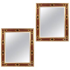 Pair of Large Arts and Crafts Mirrors