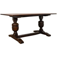 Victorian Refectory Table in 17th Century Taste Antique, English Oak, circa 1880