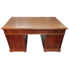 Early 20th Century Oak Partner Desk