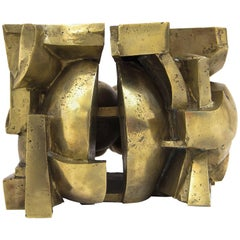 Abstract Bronze Sculpture by Aglaé Libéraki