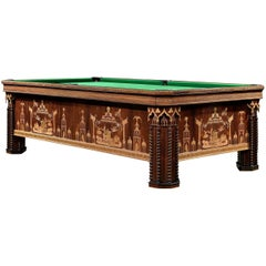 19th Century French Gothic Revival Billiard Table