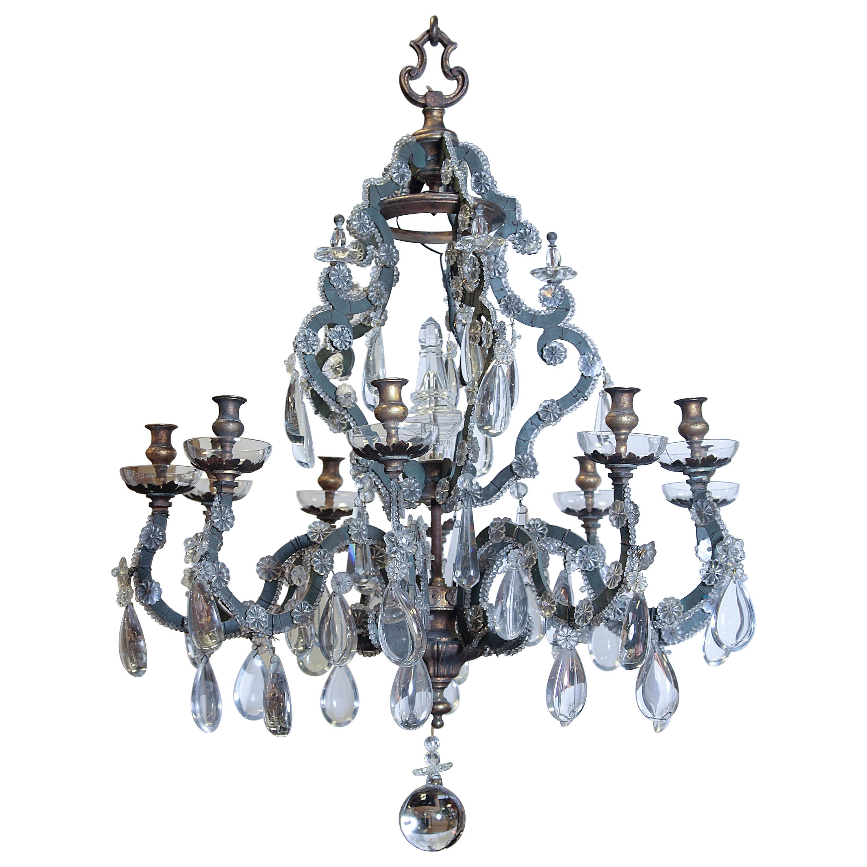 Late 19th Century Italian 10-Light Chandelier