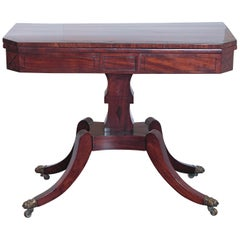 Period English Regency Mahogany Flip-Top Games Table