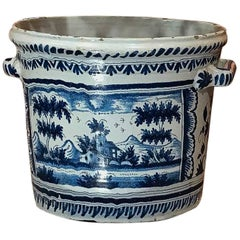 Nevers, French 18th Century, Large Faience Orange Pot