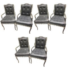 Set of Six French Styled Open Armchairs