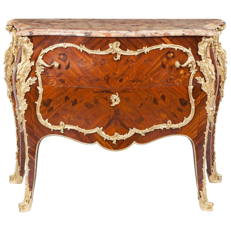 19th Century French Commode in the Louis XV Manner by Maison Rogié For Sale