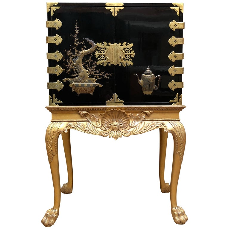 Japanese Lacquer Cabinet For Sale