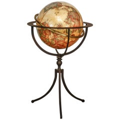 Replogle Floor Globe on Tripod Iron Stand
