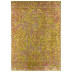 Contemporary Silk Rug By Carini 10x14