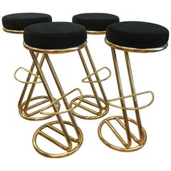 Art Deco Set of Four Italian Bar Stools