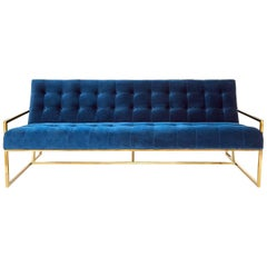 Goldfinger Velvet and Brass Sofa