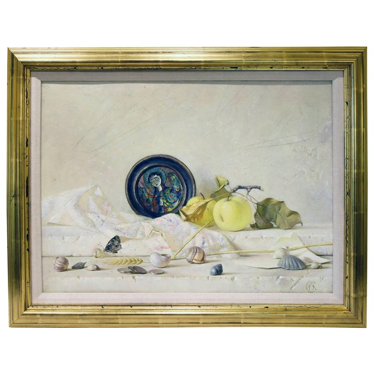 Still Life on Canvas Oil Painting, 2002