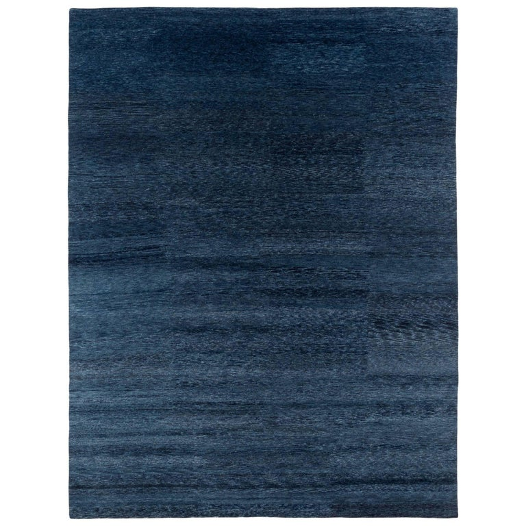 Natural Indigo Rug By Carini 9x12 For Sale At 1stdibs