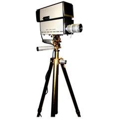 Sony Vintage Vidicon Video Camera, wirca 1969-1970, with Tripod