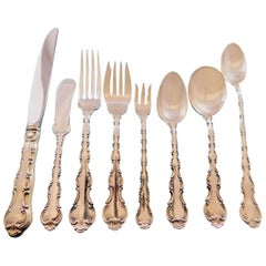 Strasbourg by Gorham Sterling Silver Flatware Set for Eight Service 76 pieces