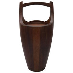1960s Jens Quistgaard for Dansk Teak Ice Bucket, Extra Large