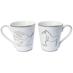 Horse and Dove Mug Set after Pablo Picasso