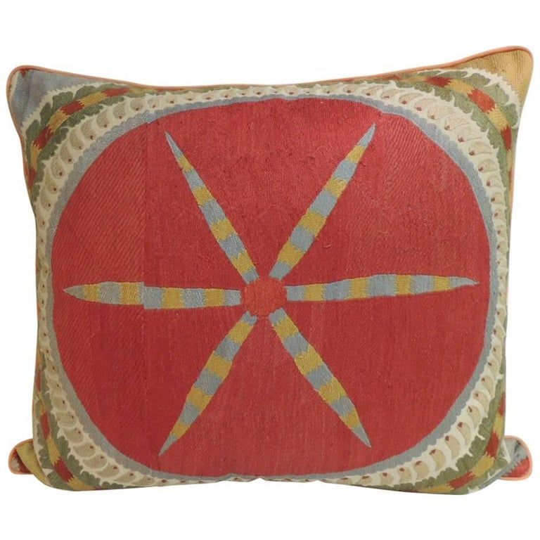 CLOSE OUT SALE Large Embroidery Suzani Multicolor Decorative Floor Extraordinary Large Decorative Floor Pillows
