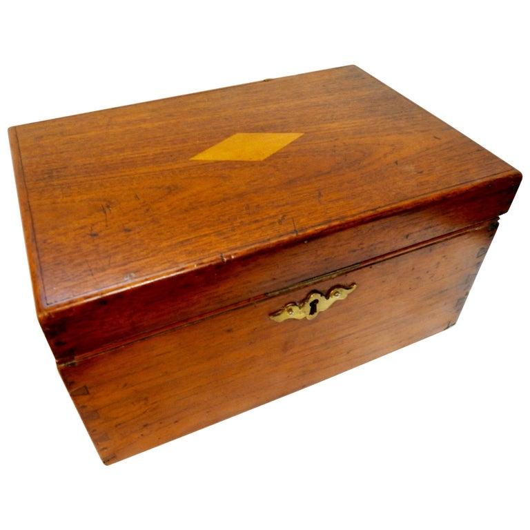 19th Century Walnut, Cherry and Oak Letter Box
