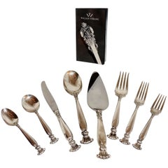 Wallace Sterling Silver Flatware Service 12 Romance of the Sea Pattern 63 Pieces