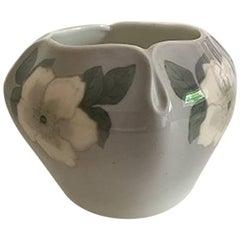 Royal Copenhagen Vase #933/423 with White Rose Motif