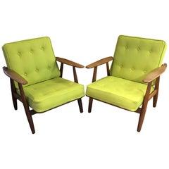 Pair of Original GE240 or 'Cigar' Chairs by Hans J Wegner for GETAMA