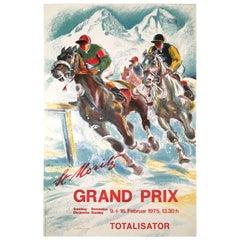 St. Moritz Horse Race on Snow Poster