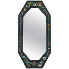 Handcrafted Painted Iron Mirror