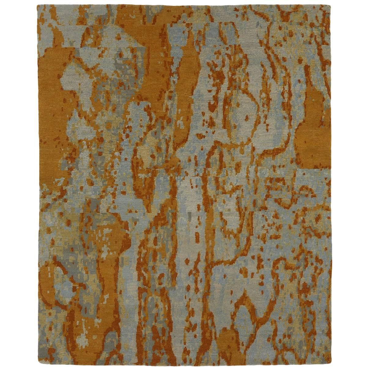 Angela Adams Bark / Aspen Area Rug, 100% New Zealand Wool, Hand-Knotted, Modern