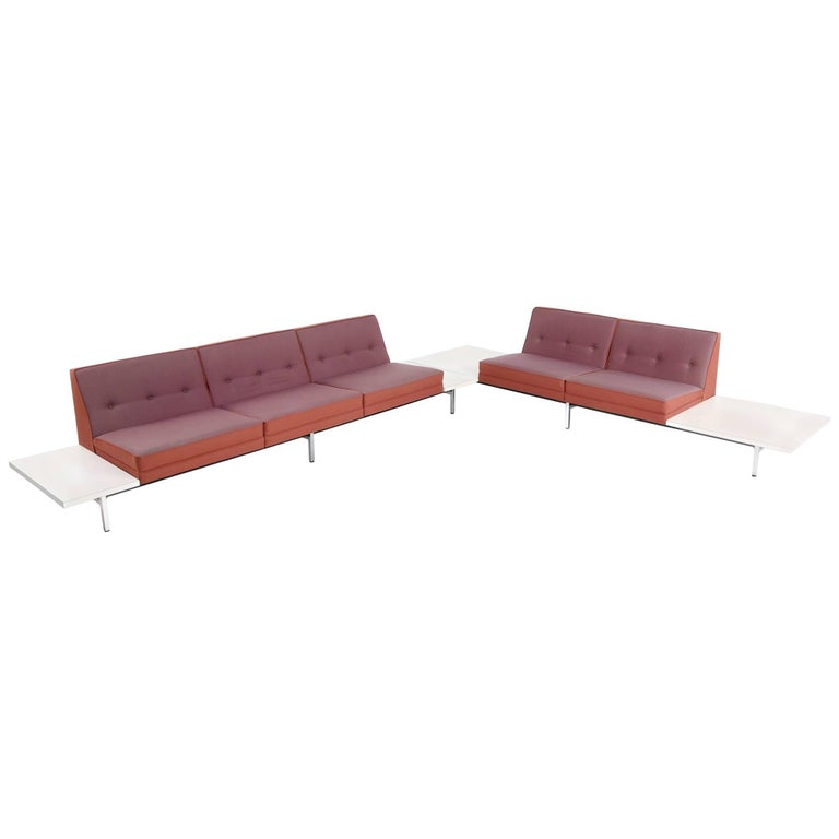 1970s George Nelson Modular Sofa and Tables Landscape Seating Herman Miller 1