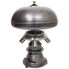 Vintage Mid-Century Modern Industrial Atomic-Age Centrifuge Mushroom Table Lamp