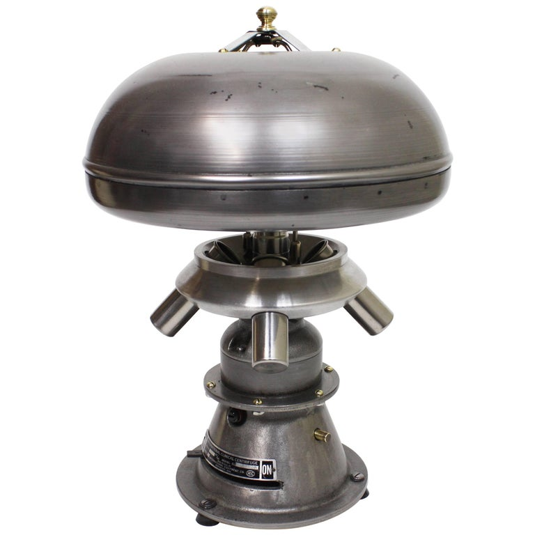 Vintage Mid-Century Modern Industrial Atomic-Age Centrifuge Mushroom Table Lamp