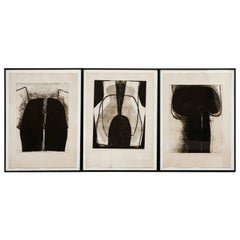 Set of Three Neo-Figurative Abstract Prints by Florencia de Amesti