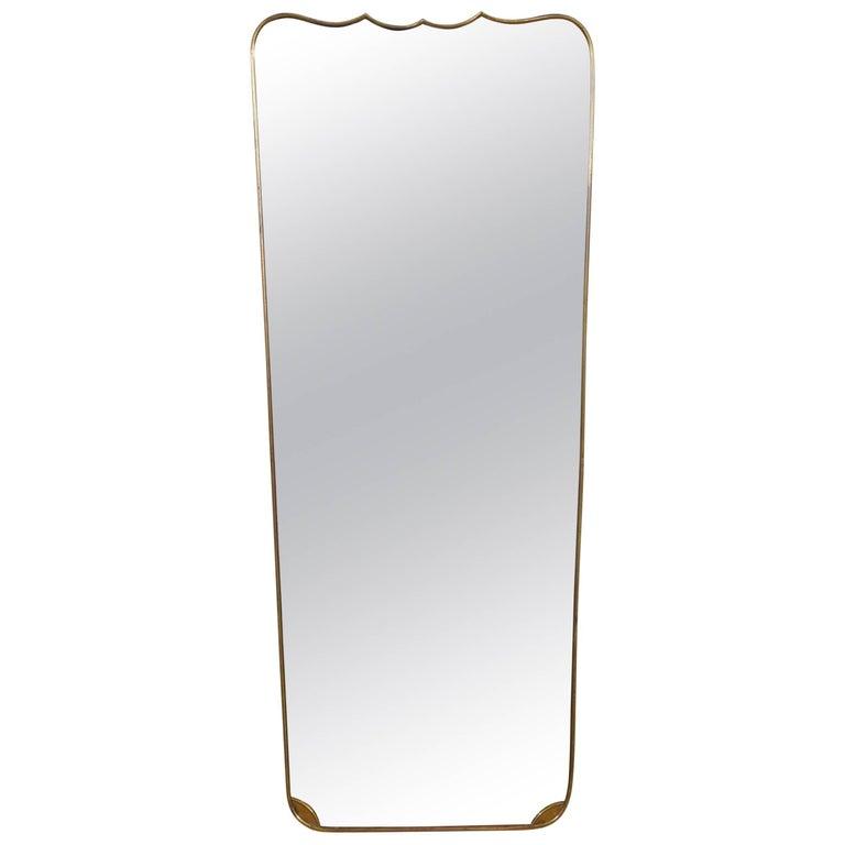 Italian Mid-20th Century Brass Mirror