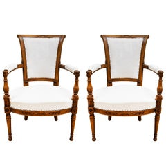 Pair of Late 19th Century French Directoire Style Armchairs