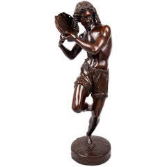 Large 19th Century Bronze Statue of a Neapolitan Dancer