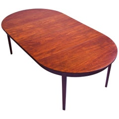 Vintage Dining Table in Teak with Four Leaves by Thorald Madsens Snedkeri, 1940s