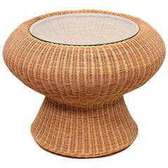 Rare Isamu Kenmochi Rattan Side Table