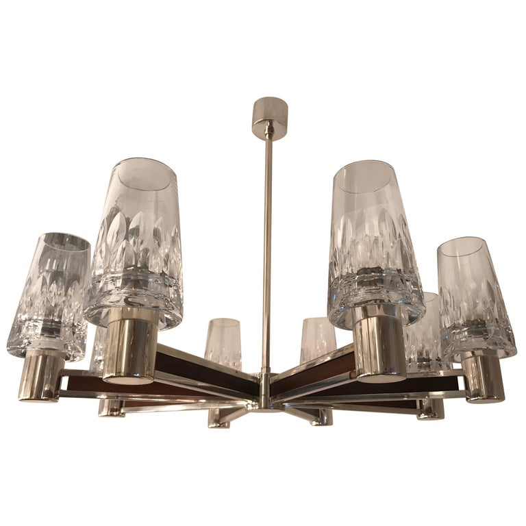 German High Style, 1970s Crystal Chandelier