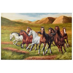 Horses, Oil Painting, Signed