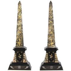Pair of Egyptian Revival Obelisks