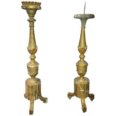 Complementary Antique French Altar Candlesticks