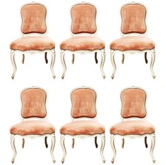 Suite of Six French Louis XV Style Dining Chairs