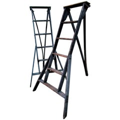 Antique American Folding Fruit Picking Orchard Ladders