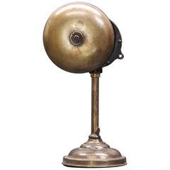 Industrial Brass Benzamin Prop Bell Quack Alarm Assemblage