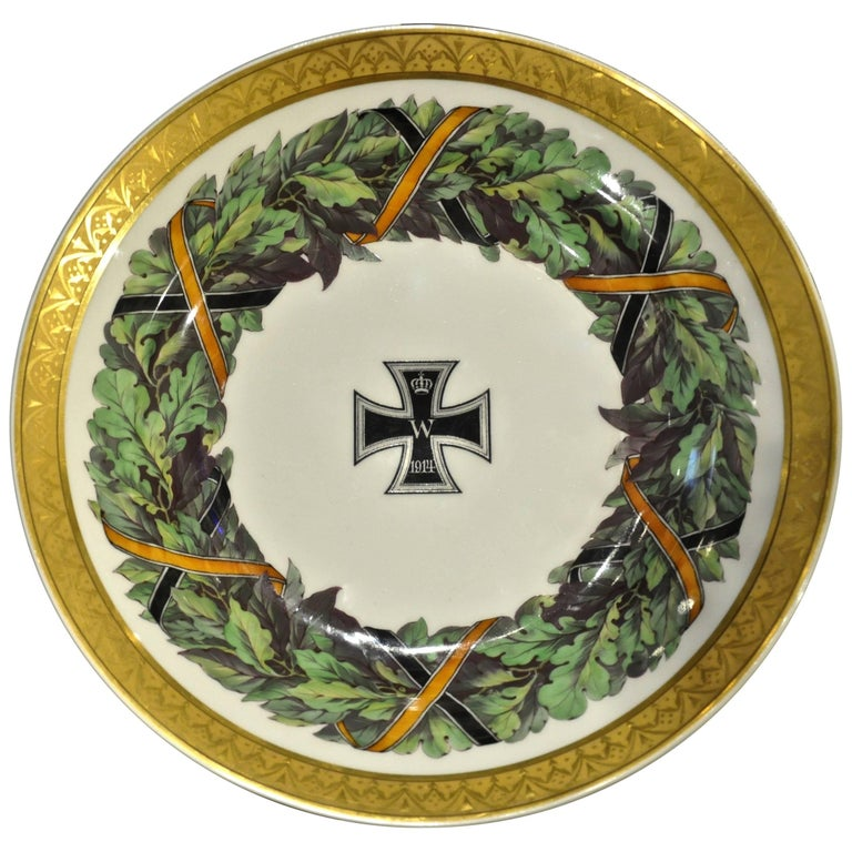 Imperial German Porcelain Plate Neoclassical KPM Berlin