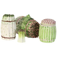 Collection of Vintage Italian Ceramic Asparagus Containers