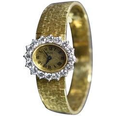 Ladies Diamond Bezel 18-Karat Piaget Wristwatch