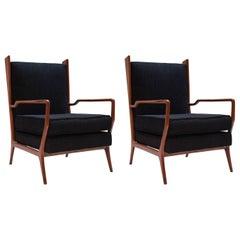 Pair of Rare Vintage 1960s Rino Levi Armchairs