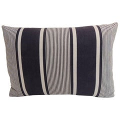Vintage French Blue and White Stripes Bolster Decorative Pillow